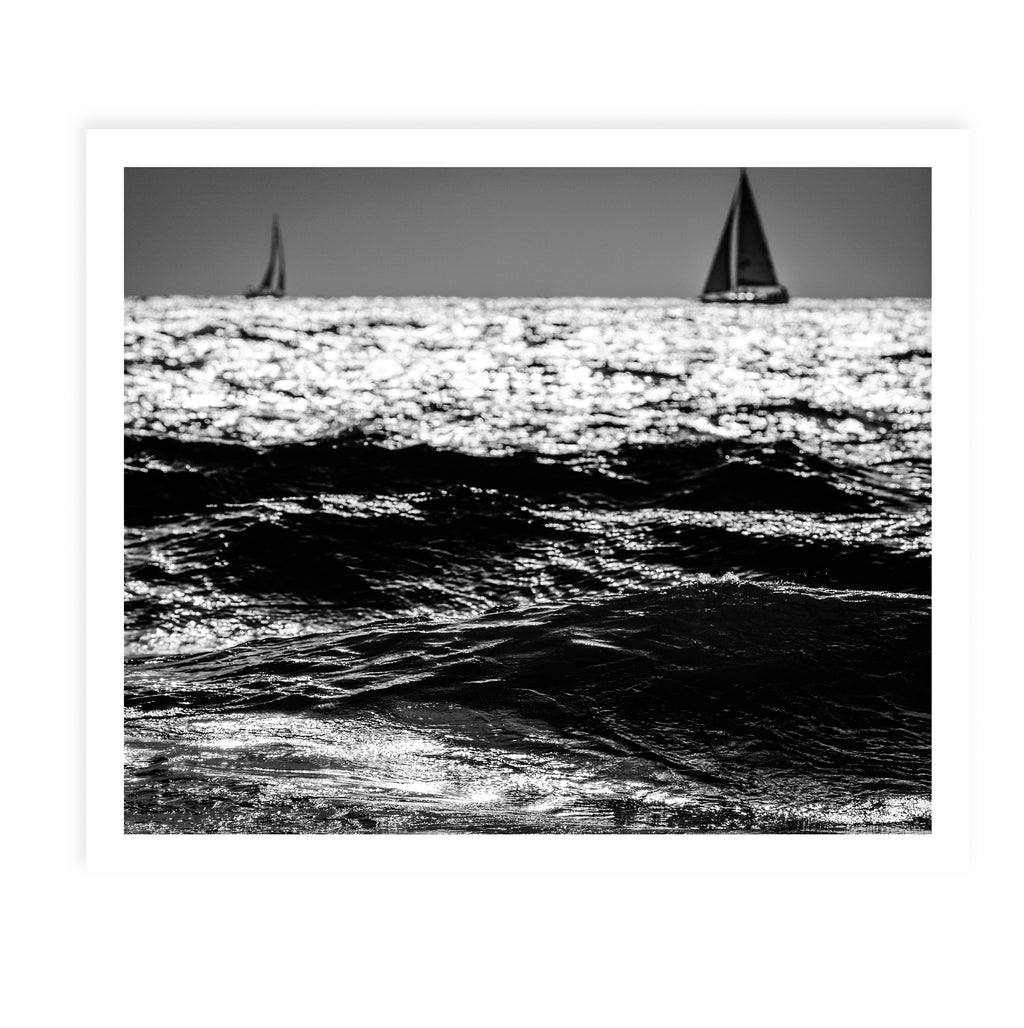 TWO SAILBOATS Framed Giclee Print By Tal Paz-Fridman