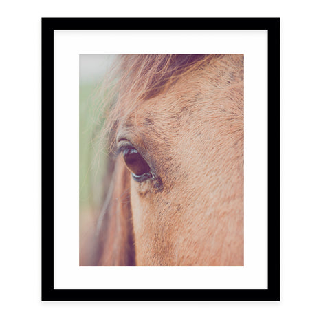 BROWN EYED GIRL Framed Giclee Print With Mat By Ann Hudec