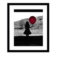 RED Framed Giclee Print With Mat By Robin Delean