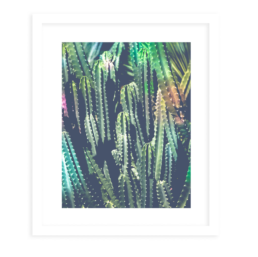 CACTUS JUNGLE Framed Giclee Print With Mat By Ann Hudec