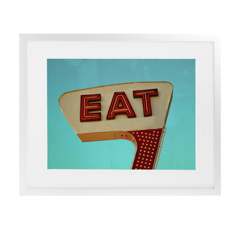 EAT Framed Giclee Print With Mat By BomoBob