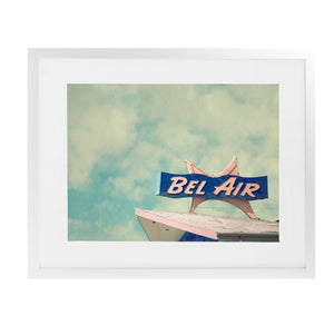 BEL AIR MOTEL Framed Giclee Print With Mat By BomoBob