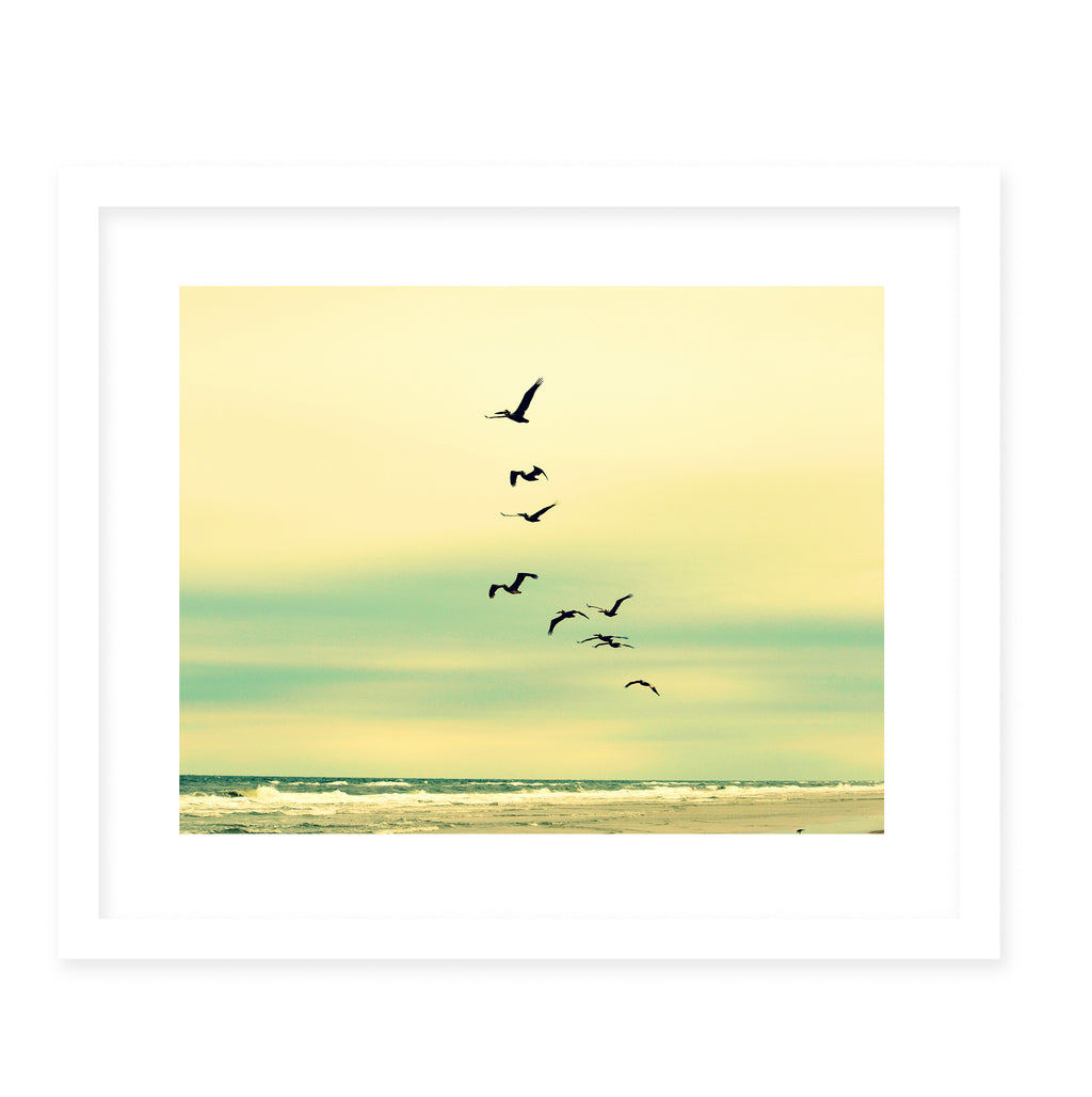 ACROSS THE ENDLESS SEA Framed Giclee Print With Mat By Robin Delean