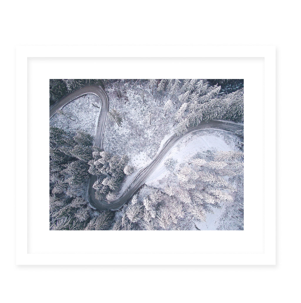 CURVES Framed Giclee Print With Mat By Robin Delean