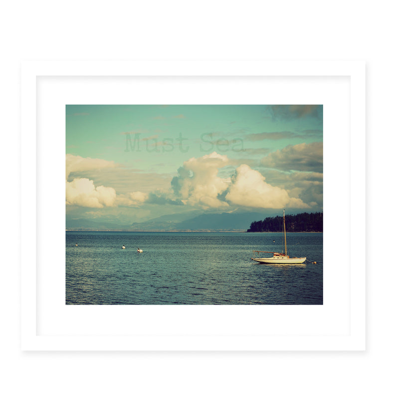 MUST SEA Framed Giclee Print With Mat By Robin Delean