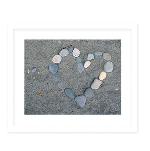 STONE HEART COPY Framed Giclee Print With Mat By Robin Delean