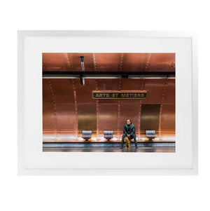 ARTS ET ME_TIERS METRO STATION PARIS Framed Giclee Print With Mat By David Phillips