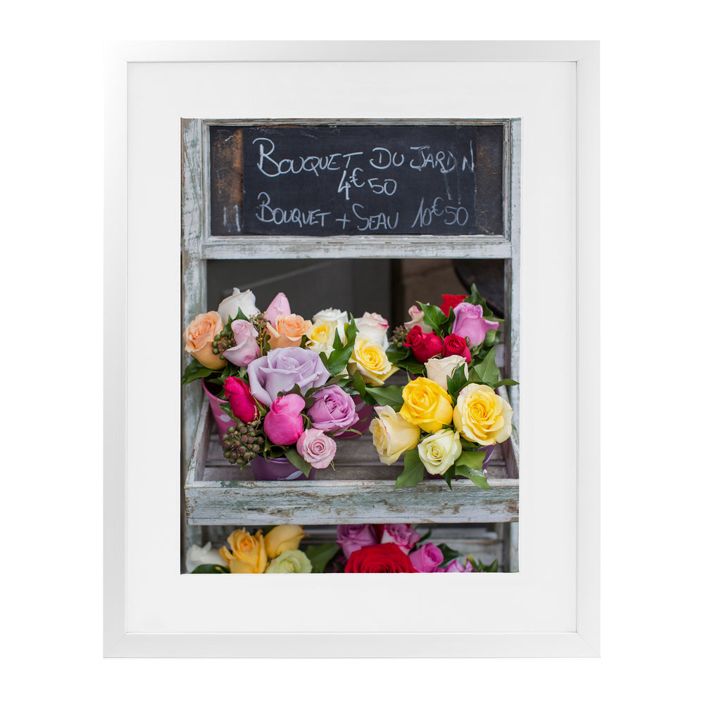 BOUQUET DU JARDIN ROSES PARIS Framed Giclee Print With Mat By David Phillips