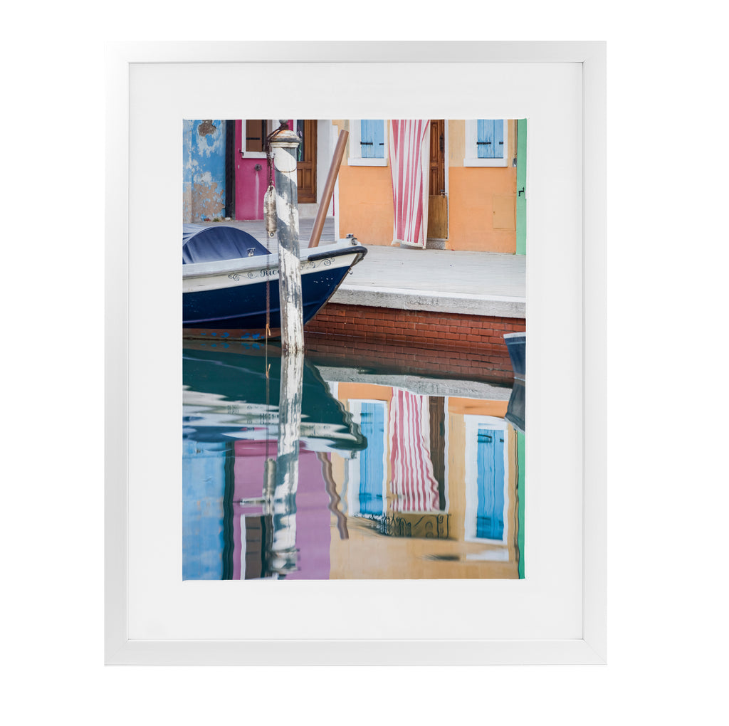 BURANO REFLECTIONS Framed Giclee Print With Mat By David Phillips