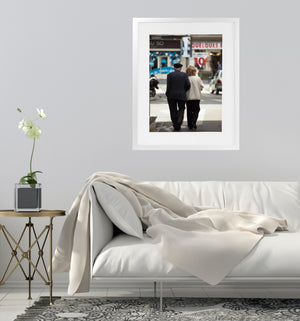 ELDERLY ROMANCE PARIS Framed Giclee Print With Mat By David Phillips