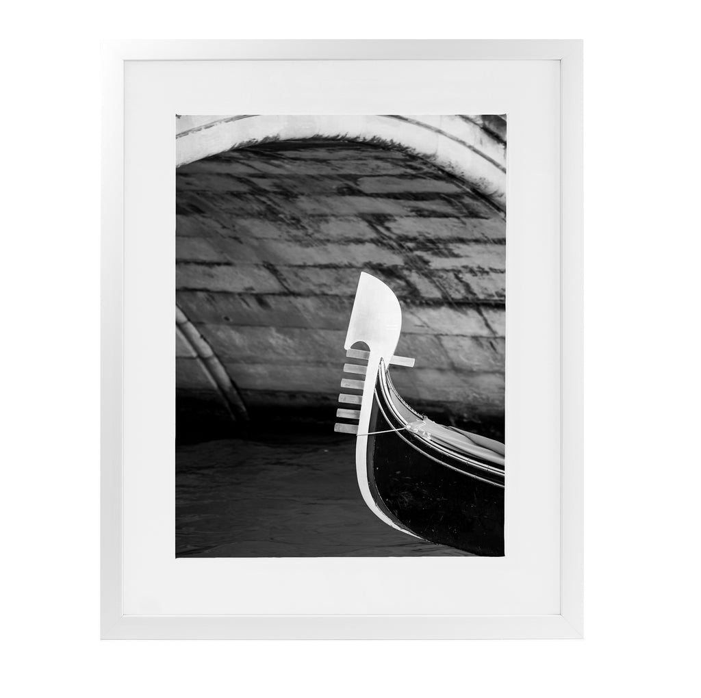 GONDOLA BOW UNDER ARCH BNW Framed Giclee Print With Mat By David Phillips