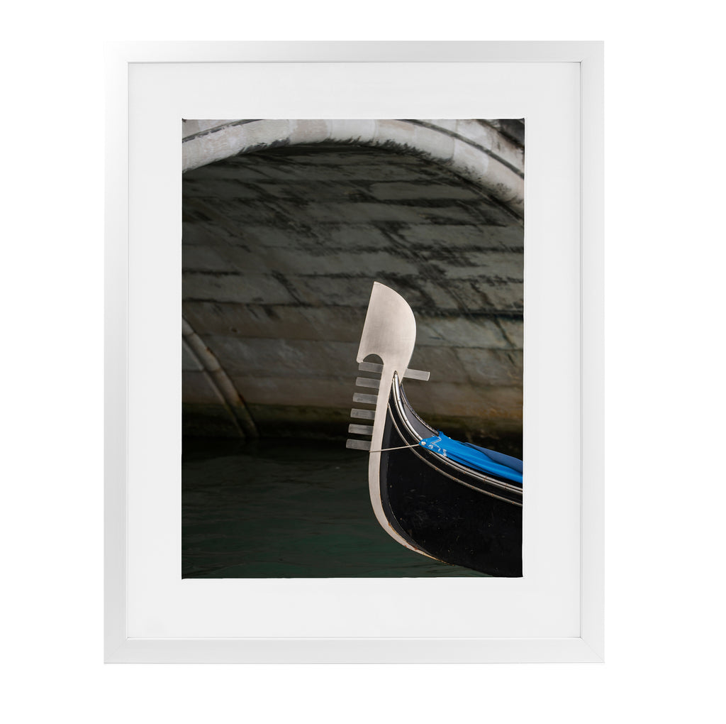 GONDOLA BOW UNDER ARCH COLOR Framed Giclee Print With Mat By David Phillips