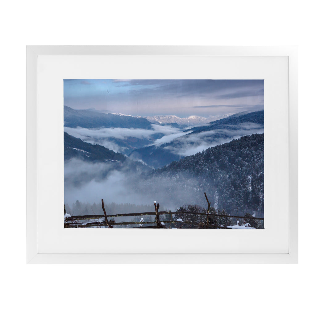 HAA VALLEY BHUTAN  Framed Giclee Print With Mat By David Phillips