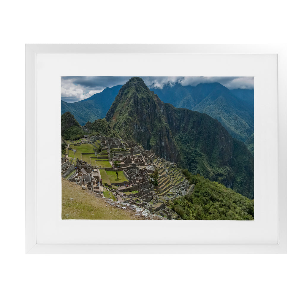 MACHU PICCHU PANORAMA Framed Giclee Print With Mat By David Phillips