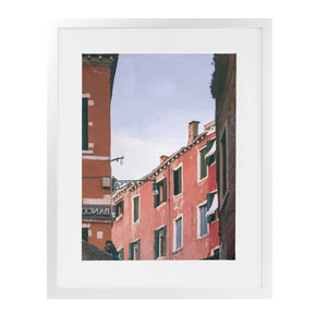 STILL CANAL REFLECTIONS VENICE Framed Giclee Print With Mat By David Phillips