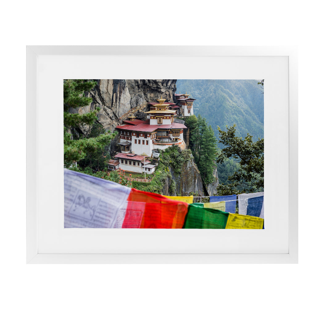 TIGER'S NEST BHUTAN  Framed Giclee Print With Mat By David Phillips