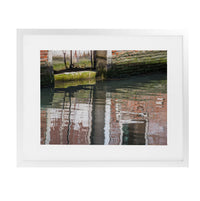 VENICE ANCIENT BUILDING REFLECTIONS  Framed Giclee Print With Mat By David Phillips