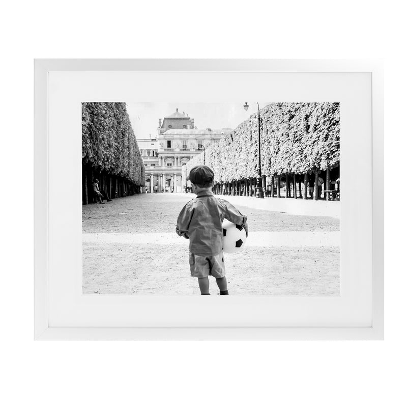 YOUNG PARIS FOOTBALLER BNW Framed Giclee Print With Mat By David Phillips