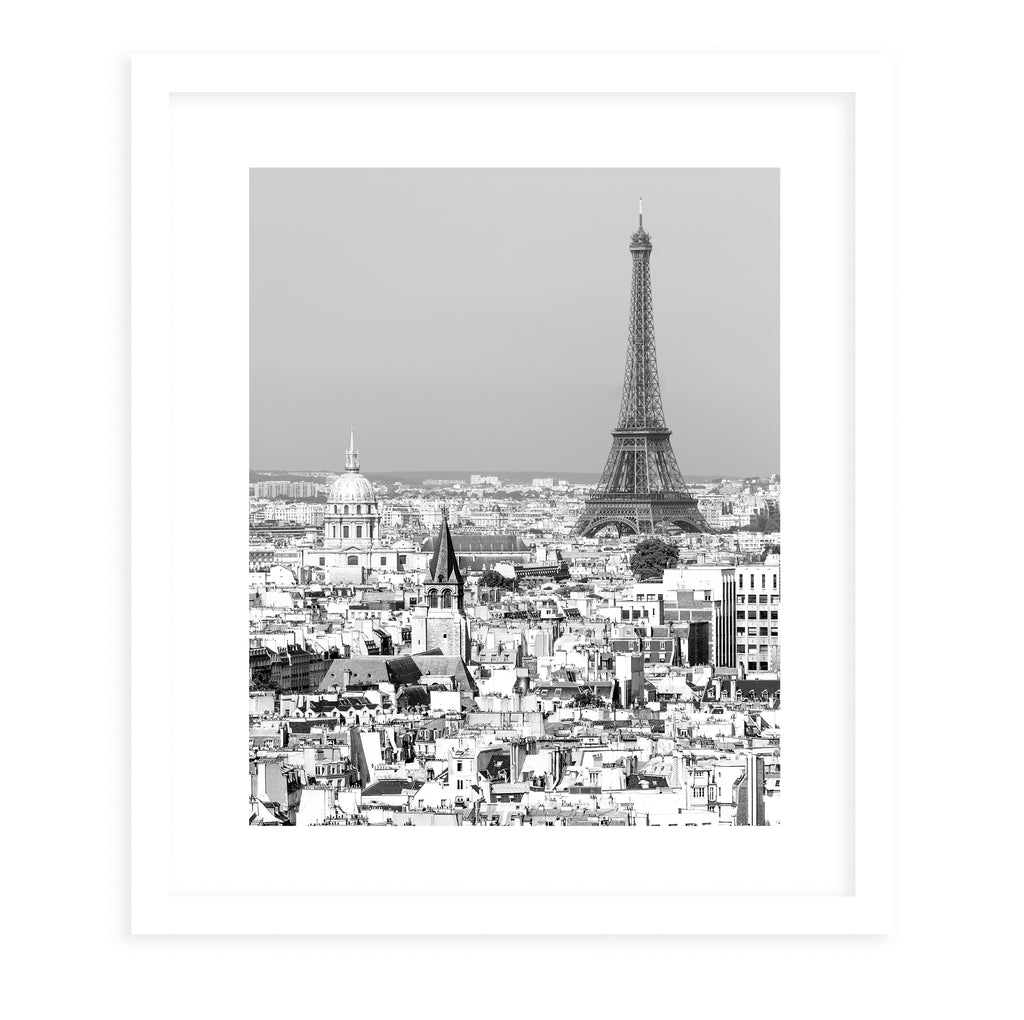 BLACK & WHITE EIFFEL Framed Giclee Print With Mat By David Phillips