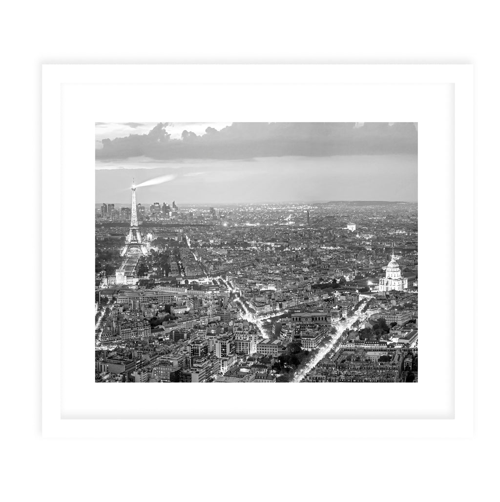 BLACK & WHITE PARIS PANORAMIC Framed Giclee Print With Mat By David Phillips