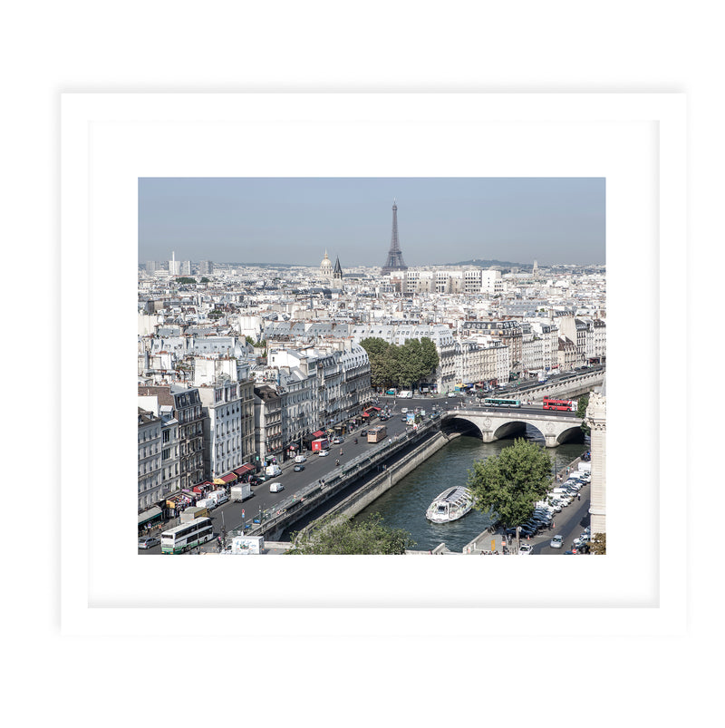 EIFFEL TOWER VIEW Framed Giclee Print With Mat By David Phillips