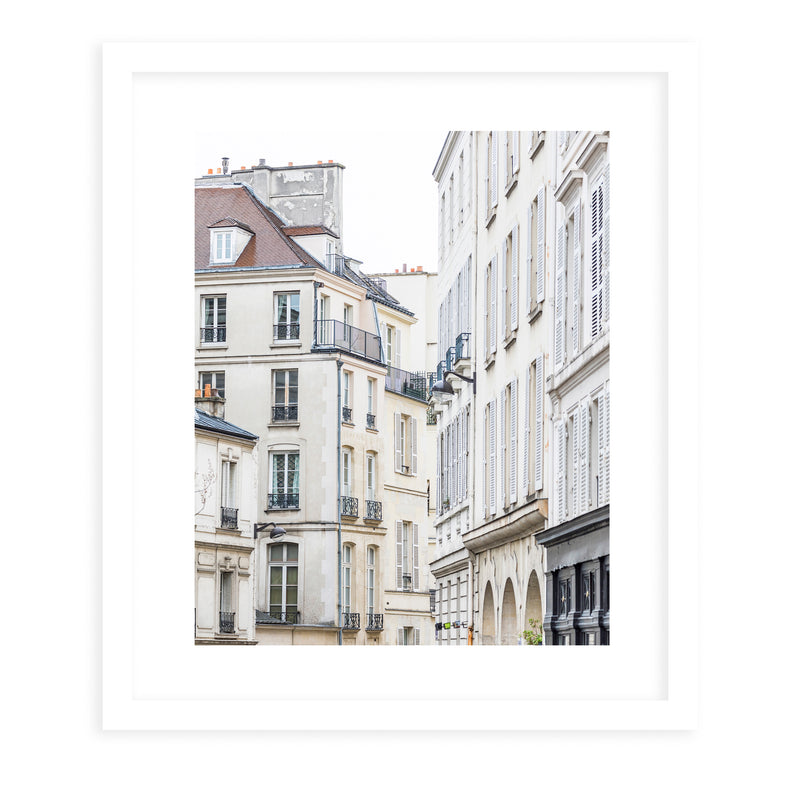 FRENCH BALCONIES II Framed Giclee Print With Mat By David Phillips