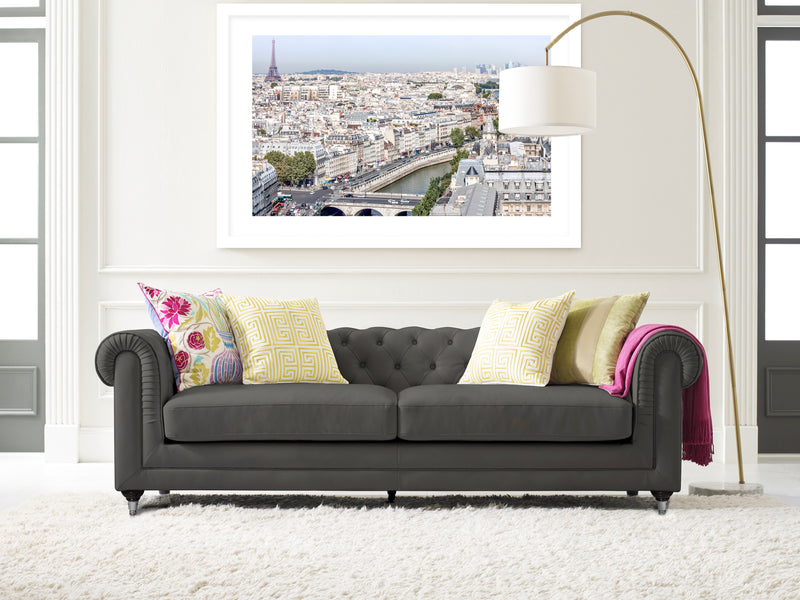 PARIS PANO Framed Giclee Print With Mat By David Phillips