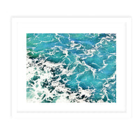 BEACH WAVES FOUR Framed Giclee Print With Mat By Jolina Anthony