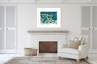 BEACH WAVES THREE Framed Giclee Print With Mat By Jolina Anthony