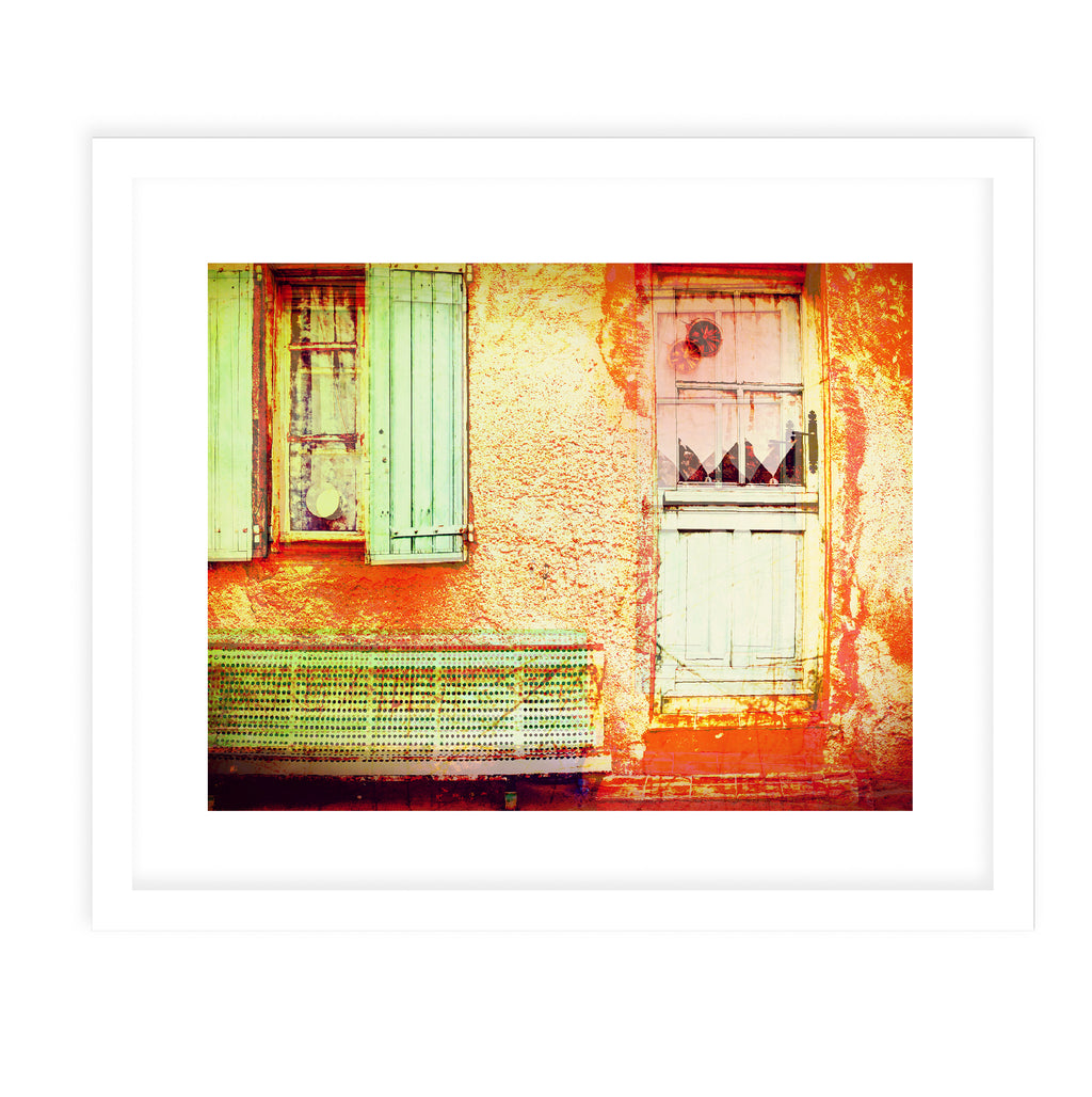 PALMA ONE VINTAGE Framed Giclee Print With Mat By Jolina Anthony