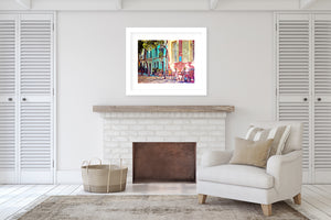 PALMA TWO VINTAGE Framed Giclee Print With Mat By Jolina Anthony