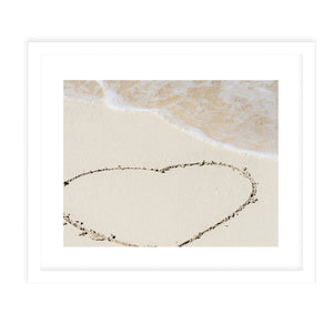 SANDY HEART Framed Giclee Print With Mat By Jolina Anthony