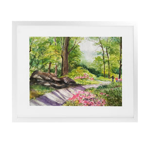 PEACEFUL GARDEN Framed Giclee Print With Mat By Jayne Conte