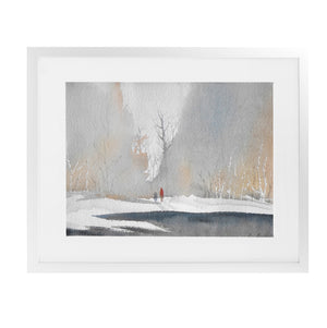 WINTER Framed Giclee Print With Mat By Jayne Conte