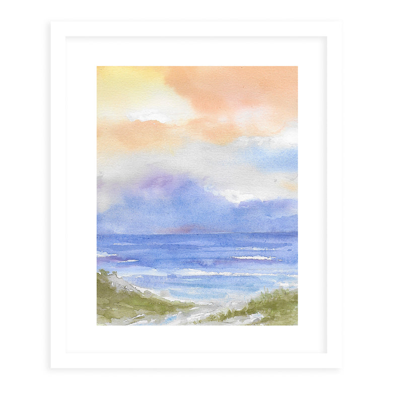 BEACH DRY SKY COLOR Framed Giclee Print With Mat By Jayne Conte
