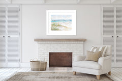 BEACH GRASSES Framed Giclee Print With Mat By Jayne Conte