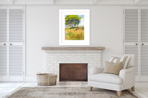 COUNTRY ROAD Framed Giclee Print With Mat By Jayne Conte