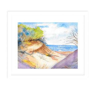 DUNES Framed Giclee Print With Mat By Jayne Conte
