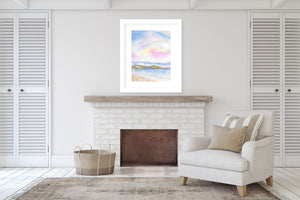 PINK CLOUDS Framed Giclee Print With Mat By Jayne Conte
