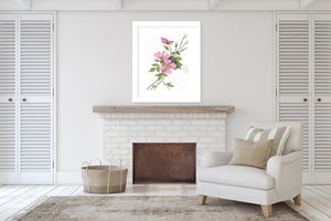 PINK ROSES Framed Giclee Print With Mat By Jayne Conte