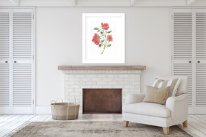 RED ROSES Framed Giclee Print With Mat By Jayne Conte
