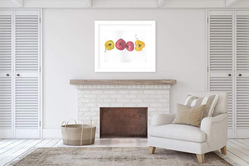 SUMMER TOMATOES Framed Giclee Print With Mat By Jayne Conte