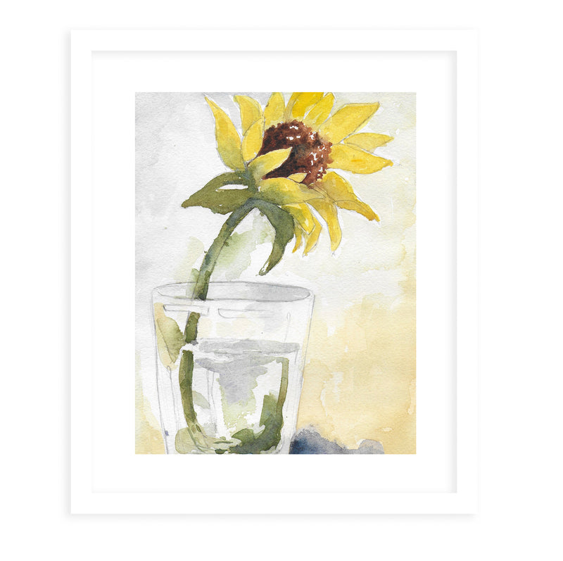 SUNFLOWER Framed Giclee Print With Mat By Jayne Conte
