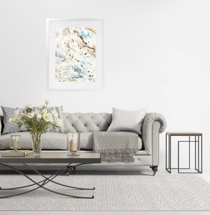 MARBLED  Framed Giclee Print with Mat By Marina Gutierrez