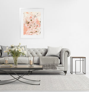 MARBLED PINK  Framed Giclee Print with Mat By Marina Gutierrez