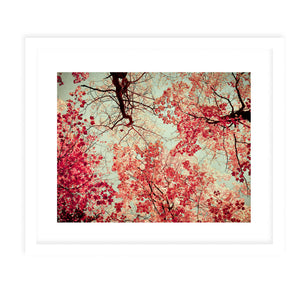 AUTUMN INKBLOT Framed Print With Mat By Olivia St.Claire
