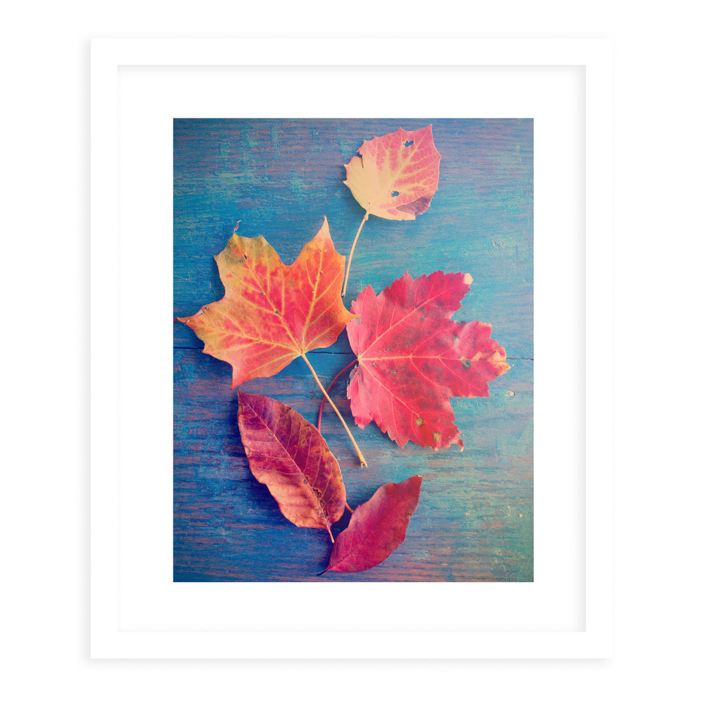 AUTUMN LEAF STILL LIFE Framed Print With Mat By Olivia St.Claire