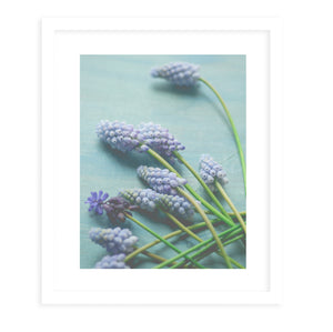 BLUE FLORAL STILL LIFE Framed Print With Mat By Olivia St.Claire