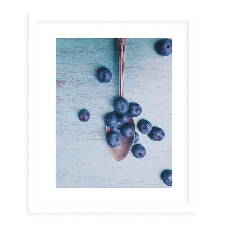 BLUEBERRIES Framed Print With Mat By Olivia St.Claire
