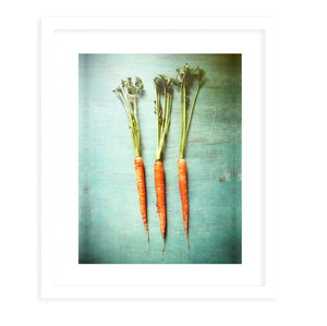 THREE LITTLE CARROTS Framed Print With Mat By Olivia St.Claire